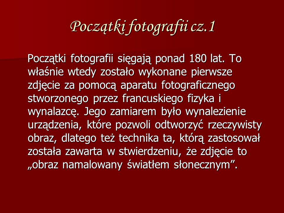 Początki fotografii cz.1