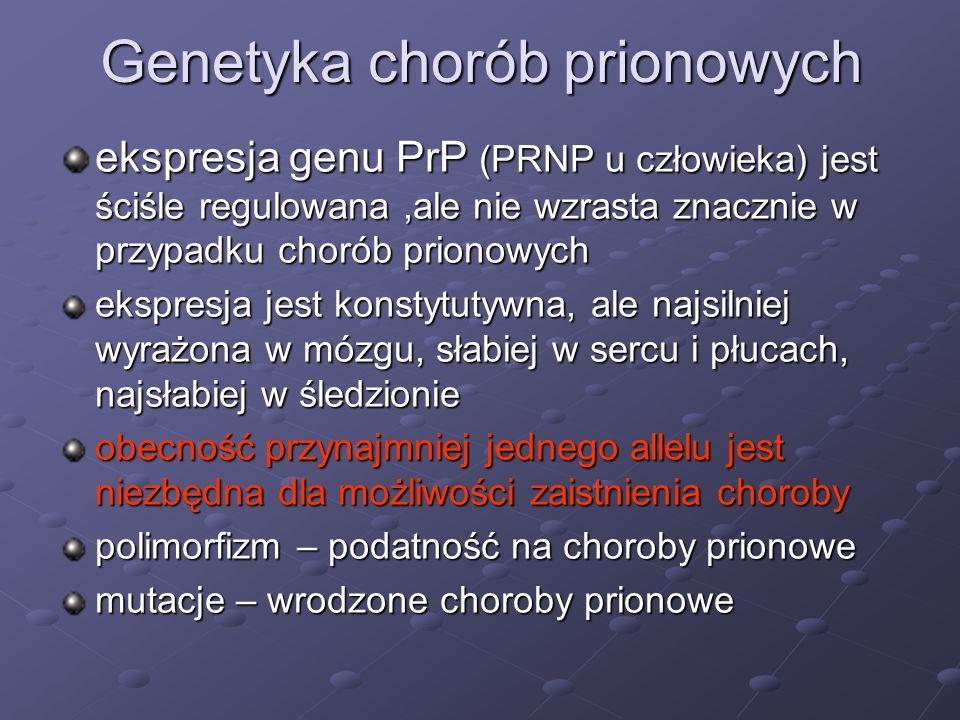 Genetyka chorób prionowych