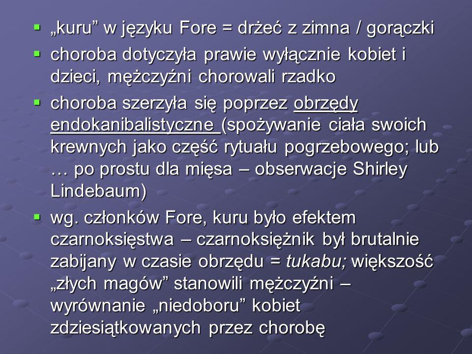 """""""kuru w języku Fore = drżeć z zimna / gorączki"""