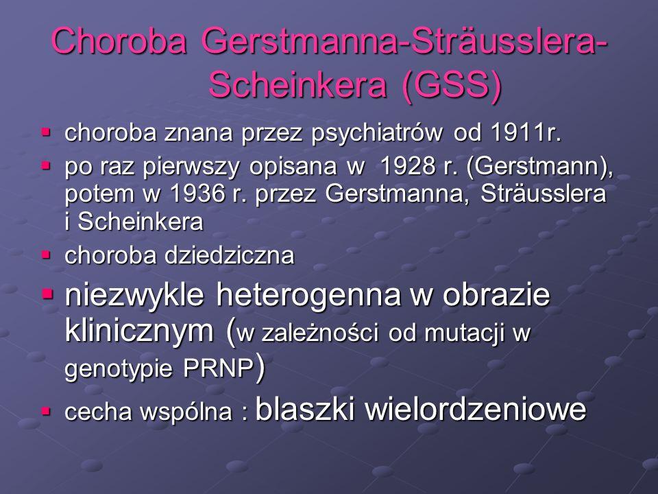 Choroba Gerstmanna-Sträusslera- Scheinkera (GSS)