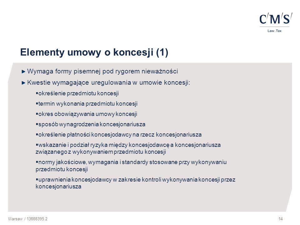 Elementy umowy o koncesji (1)