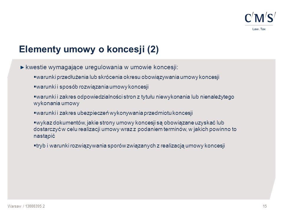 Elementy umowy o koncesji (2)