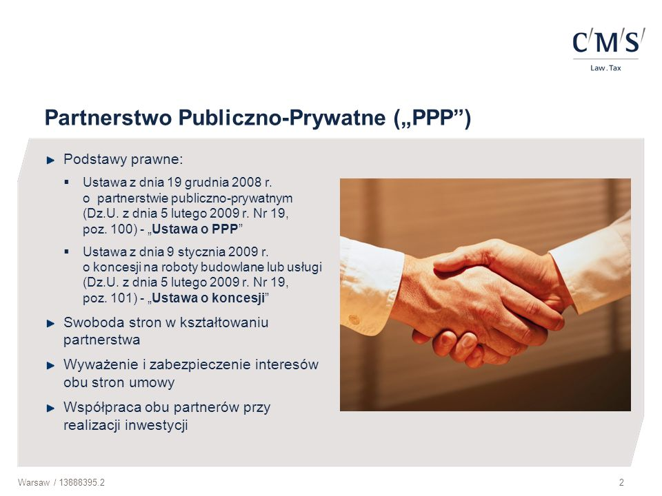 "Partnerstwo Publiczno-Prywatne (""PPP )"