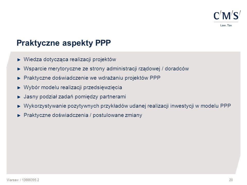 Praktyczne aspekty PPP