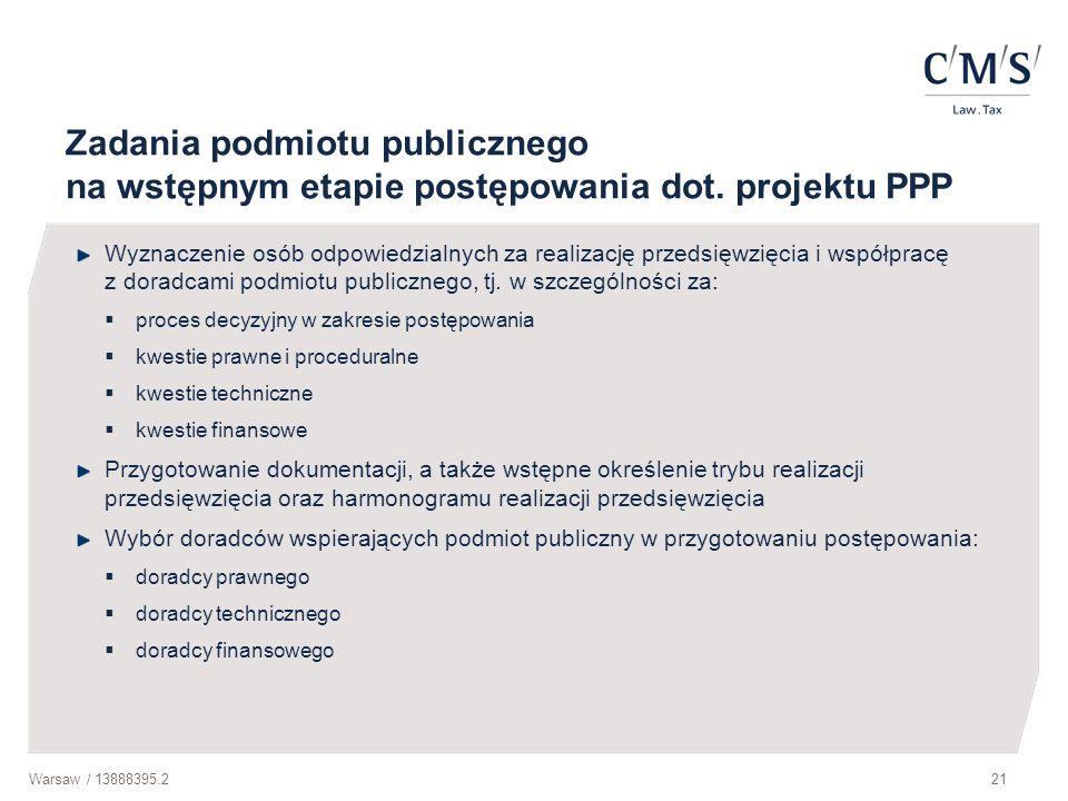 Zadania podmiotu publicznego na wstępnym etapie postępowania dot
