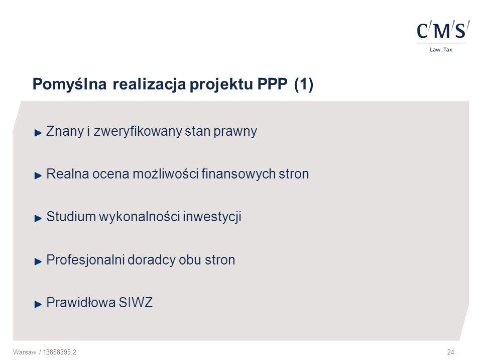 Pomyślna realizacja projektu PPP (1)