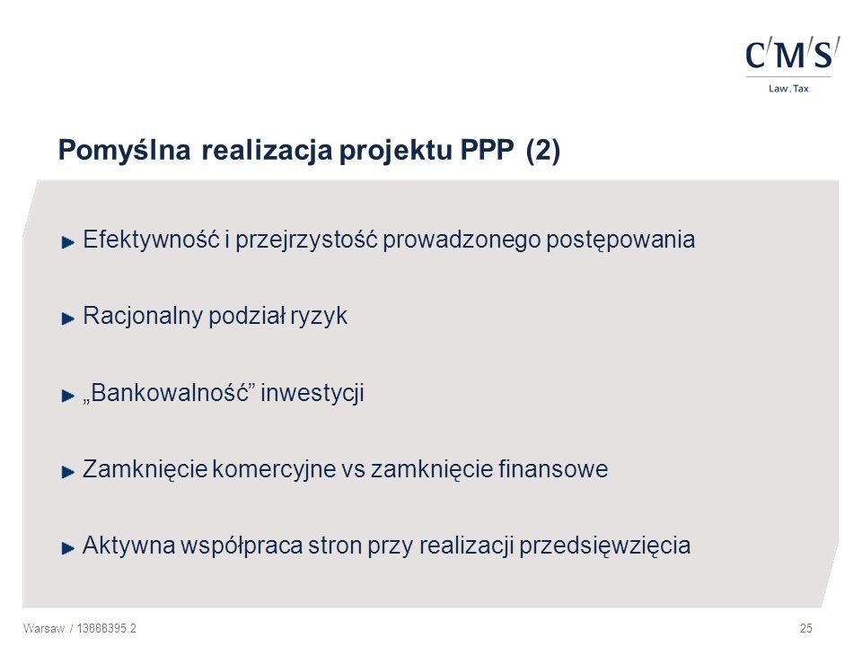 Pomyślna realizacja projektu PPP (2)