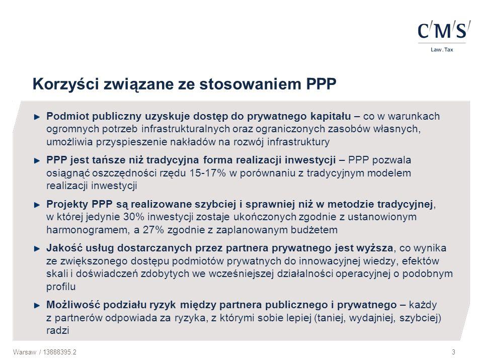 Korzyści związane ze stosowaniem PPP