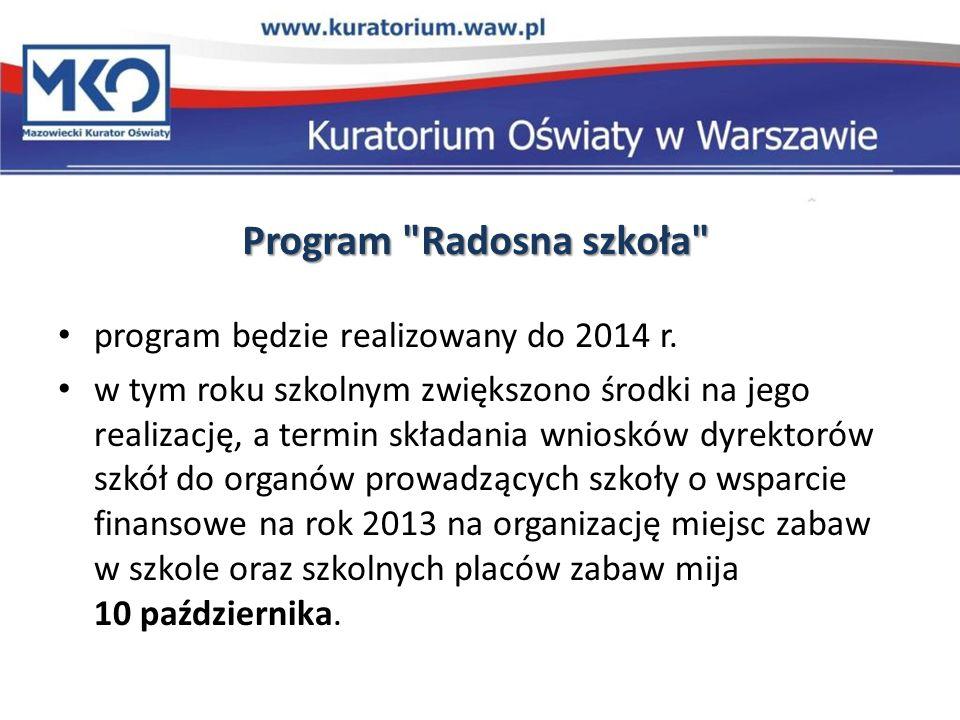 Program Radosna szkoła