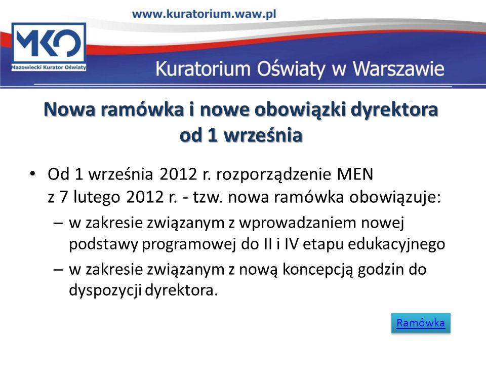 Nowa ramówka i nowe obowiązki dyrektora od 1 września