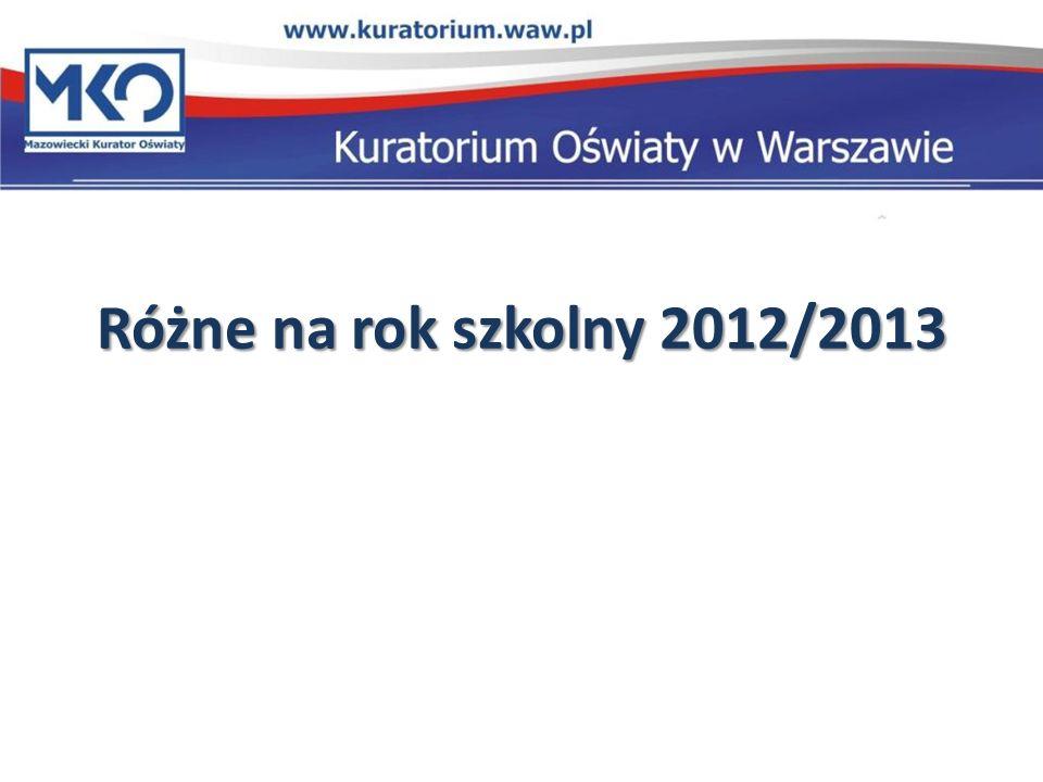 Różne na rok szkolny 2012/2013