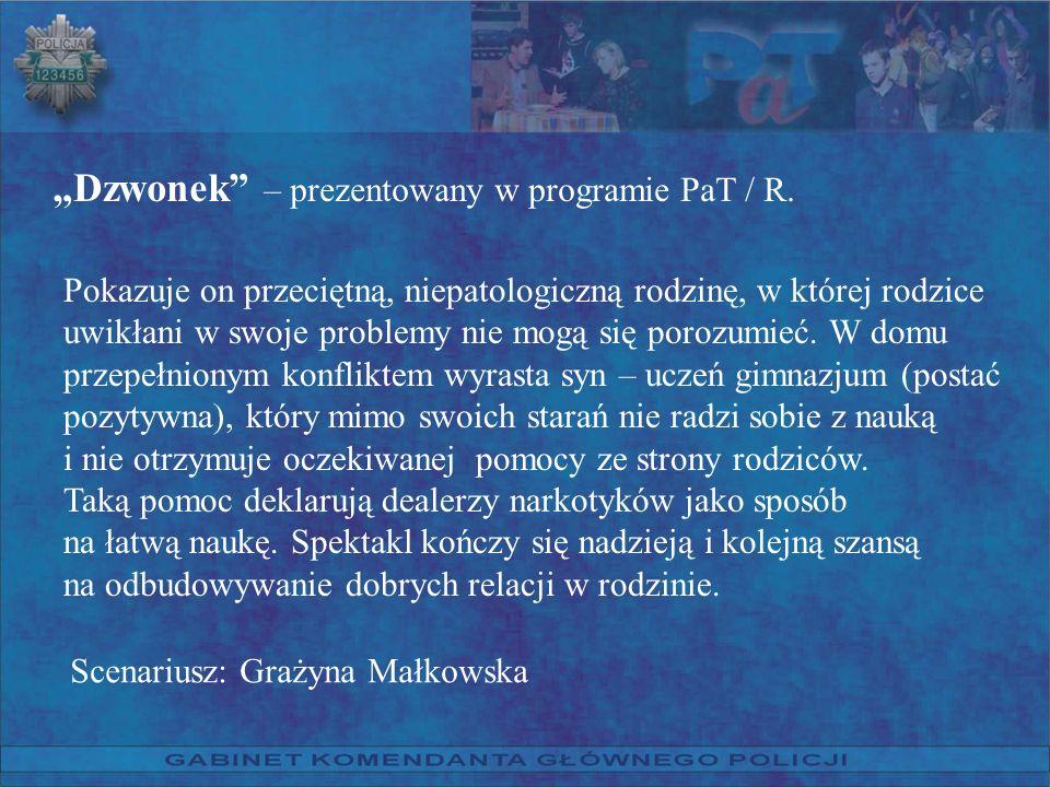"""""""Dzwonek – prezentowany w programie PaT / R."""