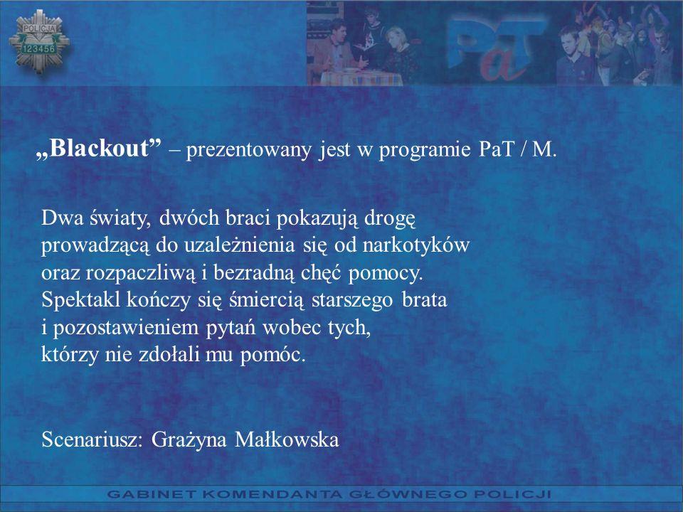 """""""Blackout – prezentowany jest w programie PaT / M."""