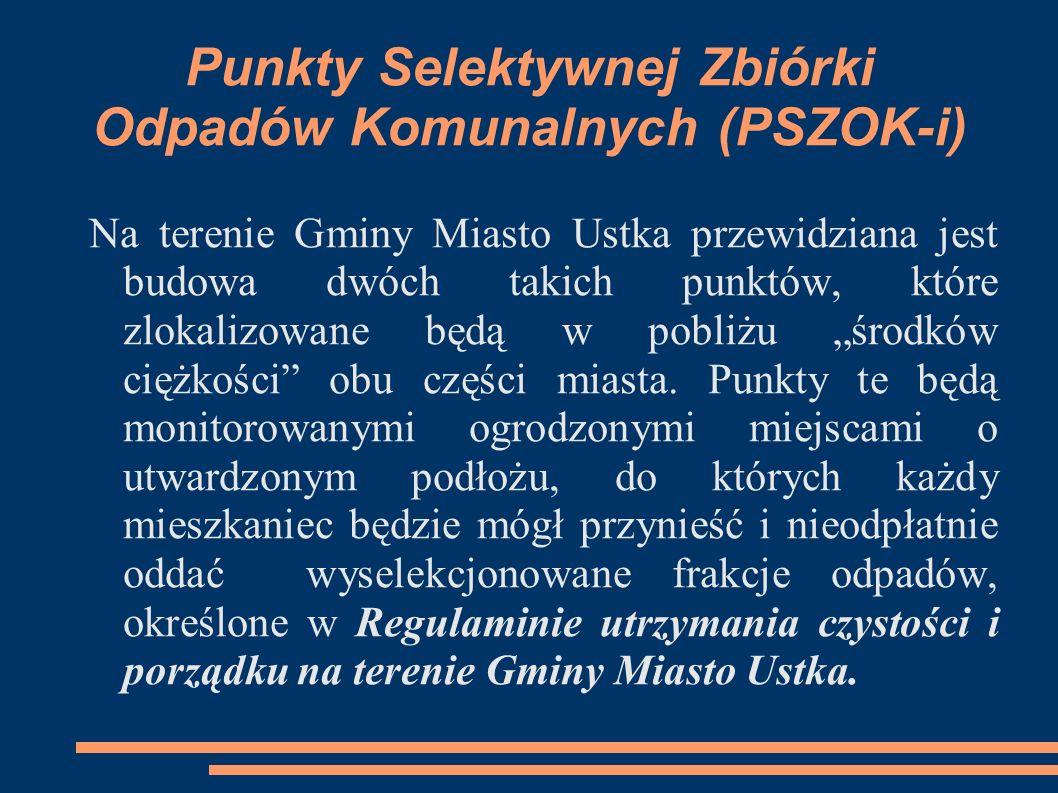 Punkty Selektywnej Zbiórki Odpadów Komunalnych (PSZOK-i)