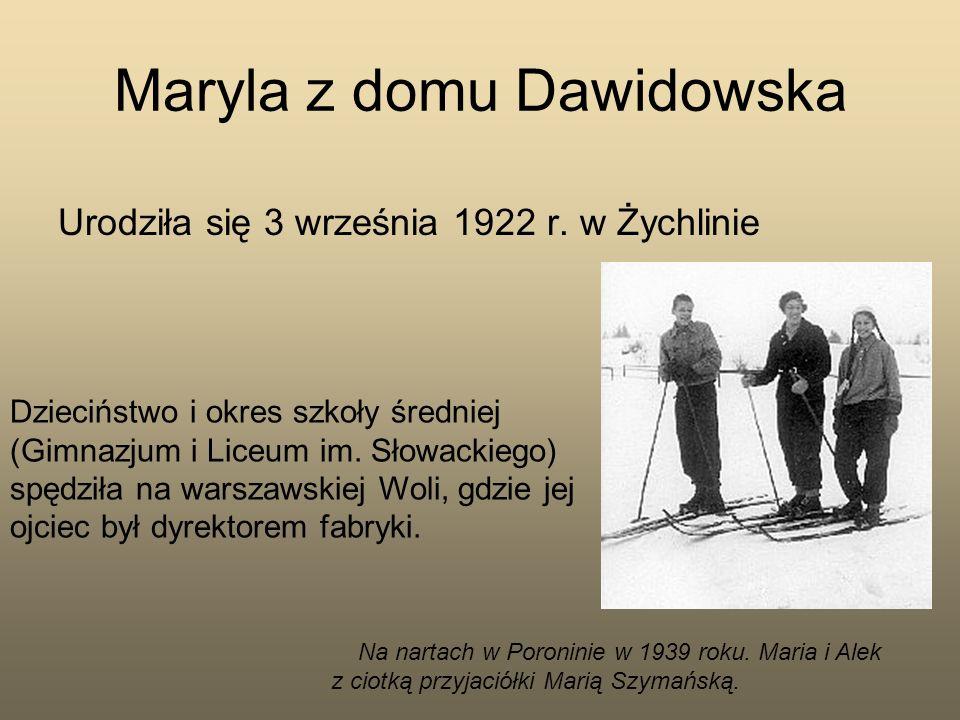 Maryla z domu Dawidowska