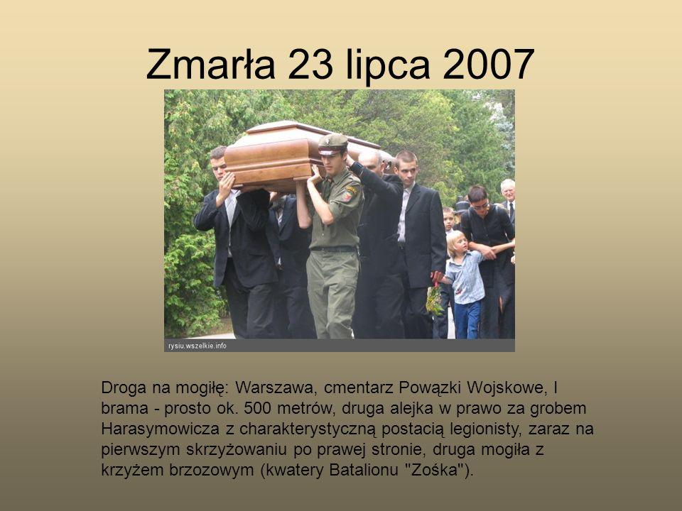 Zmarła 23 lipca 2007