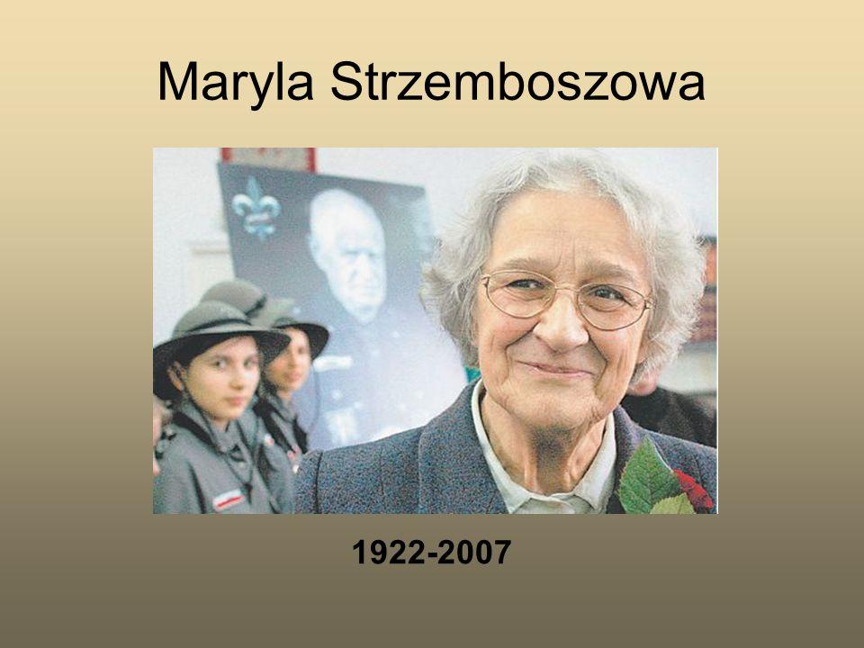 Maryla Strzemboszowa 1922-2007