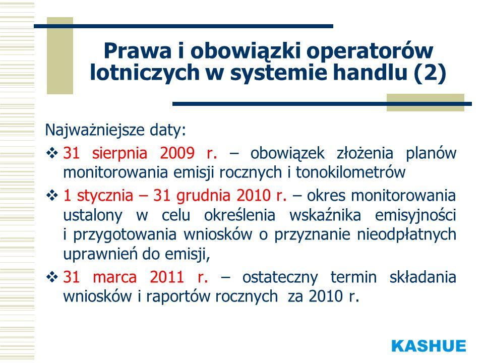 Prawa i obowiązki operatorów lotniczych w systemie handlu (2)