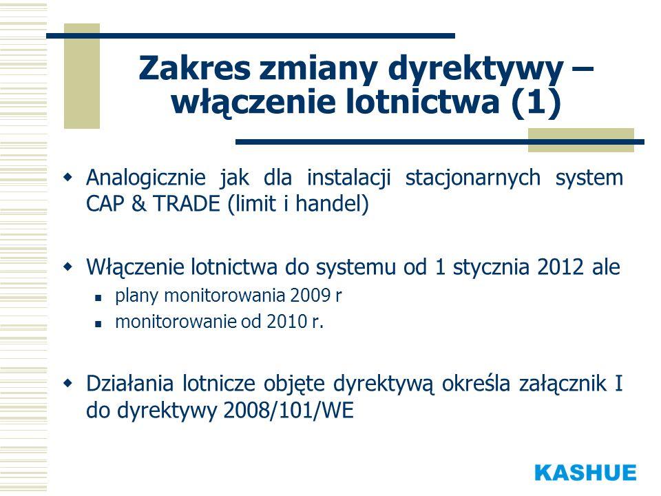Zakres zmiany dyrektywy – włączenie lotnictwa (1)