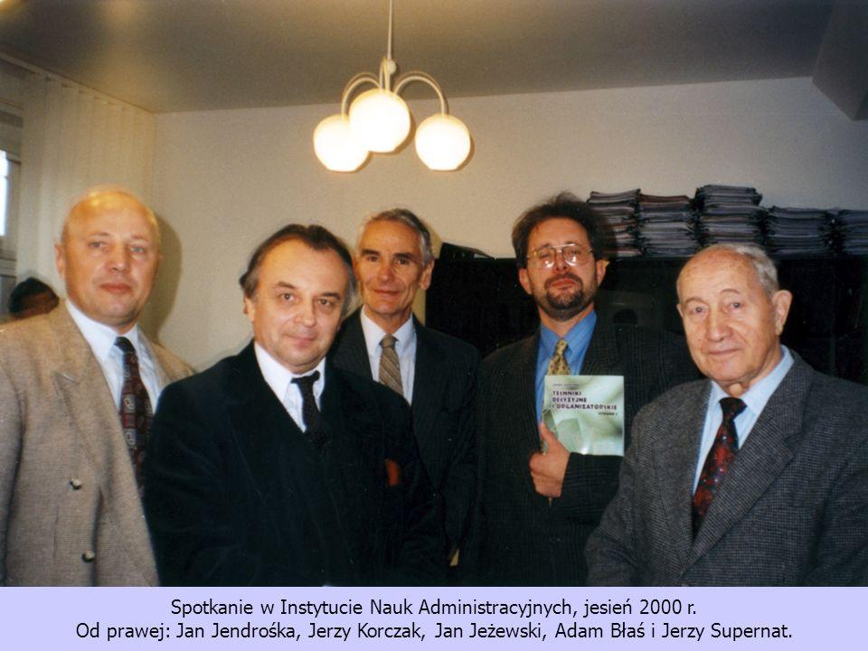 Spotkanie w Instytucie Nauk Administracyjnych, jesień 2000 r