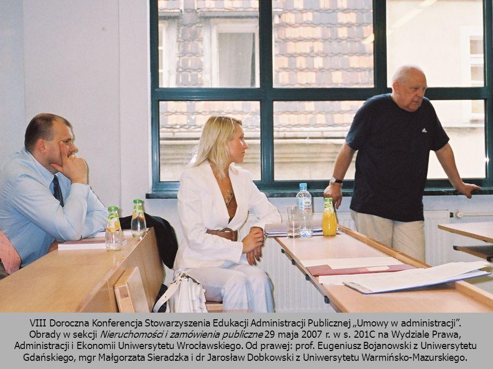 """VIII Doroczna Konferencja Stowarzyszenia Edukacji Administracji Publicznej """"Umowy w administracji ."""