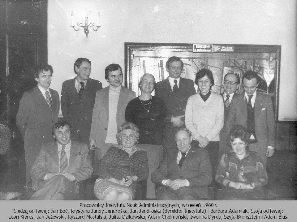 Pracownicy Instytutu Nauk Administracyjnych, wrzesień 1980 r