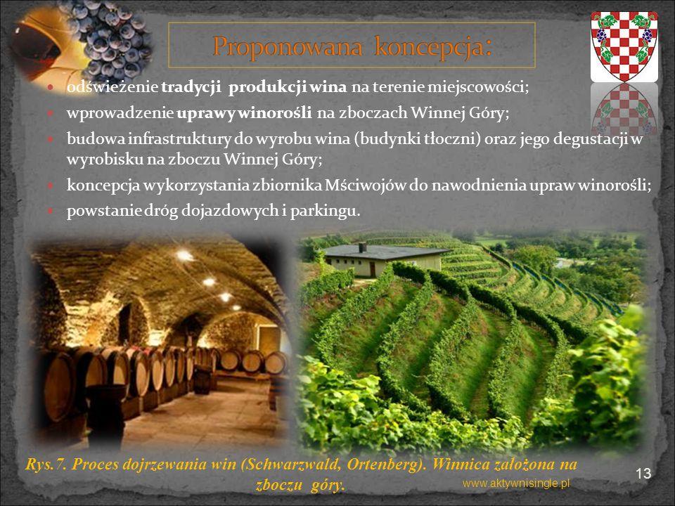 odświeżenie tradycji produkcji wina na terenie miejscowości;