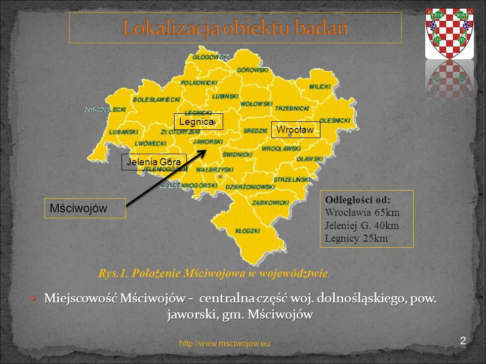 LegnicaWrocław. Jelenia Góra. Odległości od: Wrocławia 65km. Jeleniej G. 40km. Legnicy 25km. Mściwojów.
