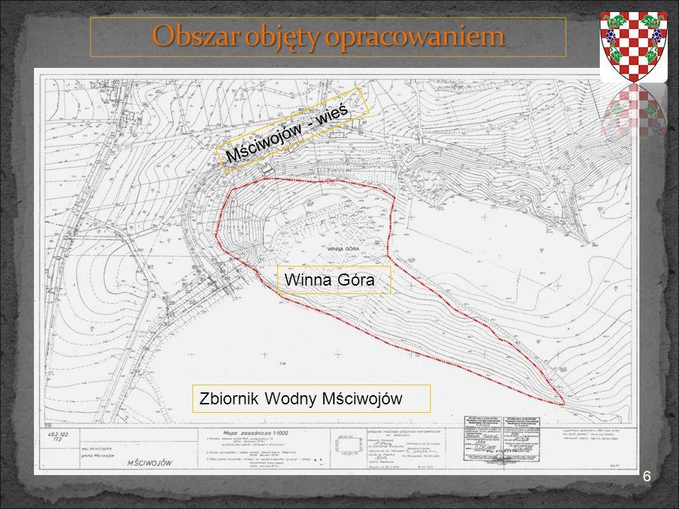 Mściwojów - wieś Winna Góra Zbiornik Wodny Mściwojów