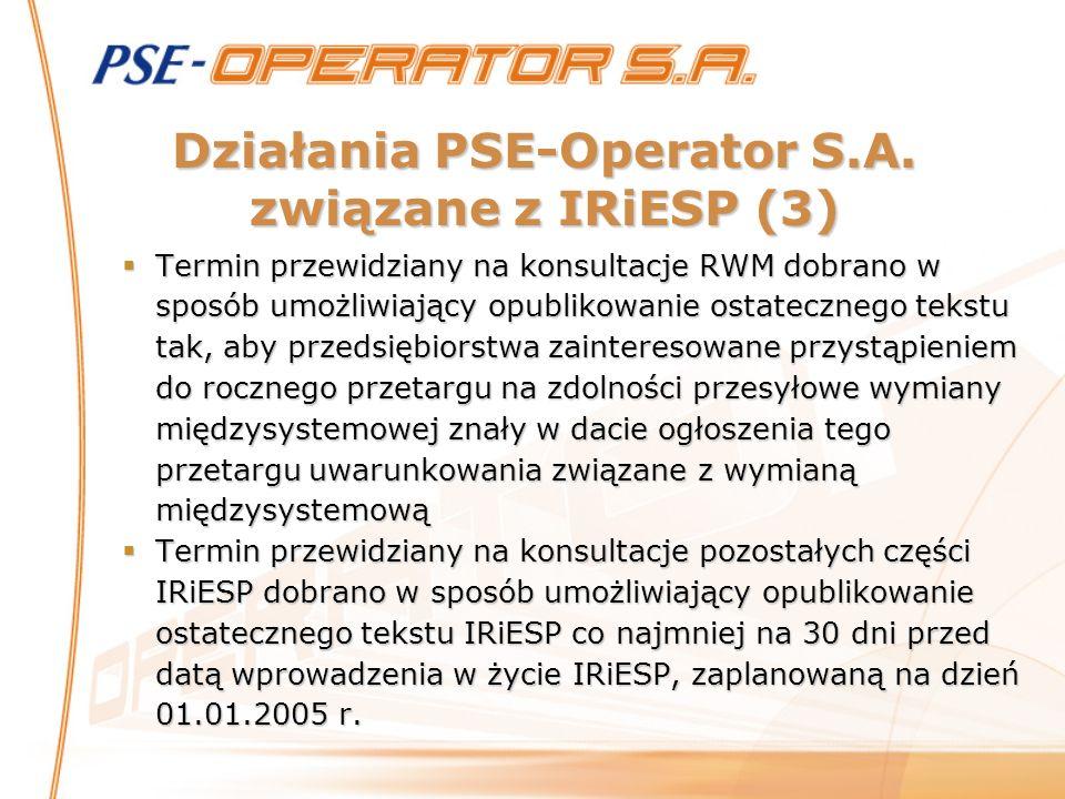 Działania PSE-Operator S.A. związane z IRiESP (3)