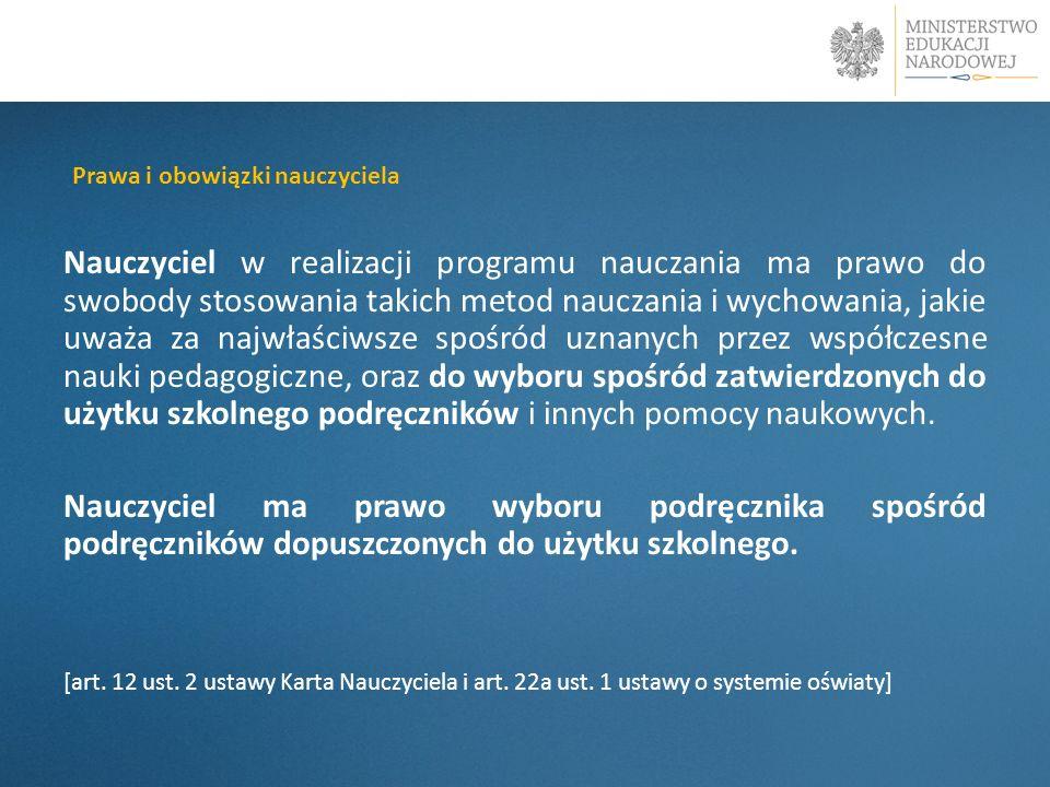 PwaPrawa i obowiązki nauczyciela.