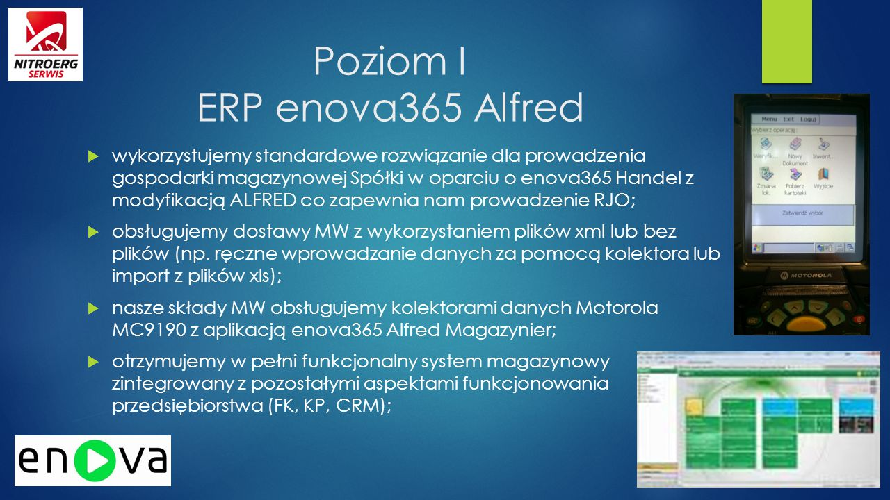 Poziom I ERP enova365 Alfred