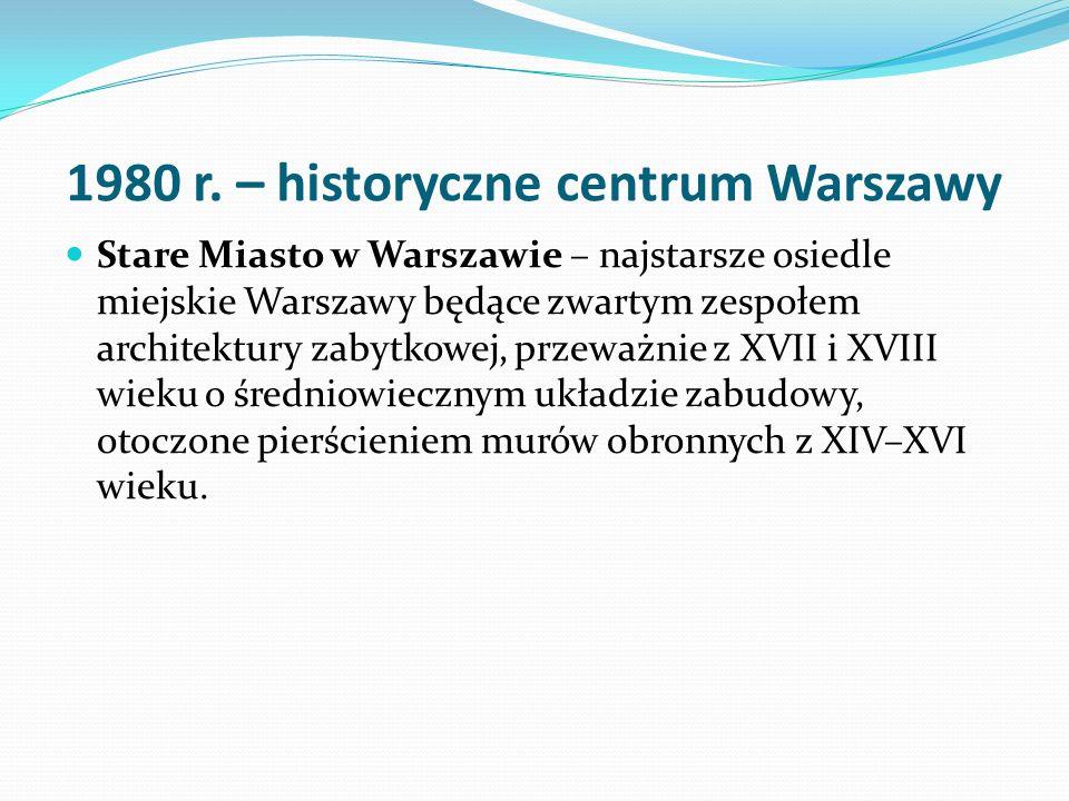 1980 r. – historyczne centrum Warszawy
