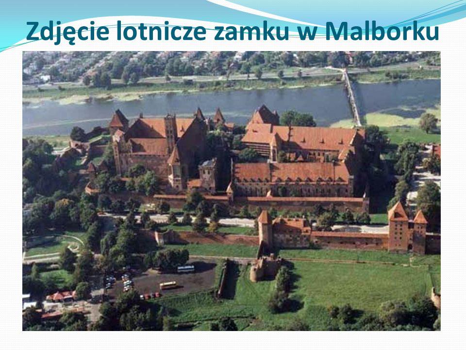 Zdjęcie lotnicze zamku w Malborku