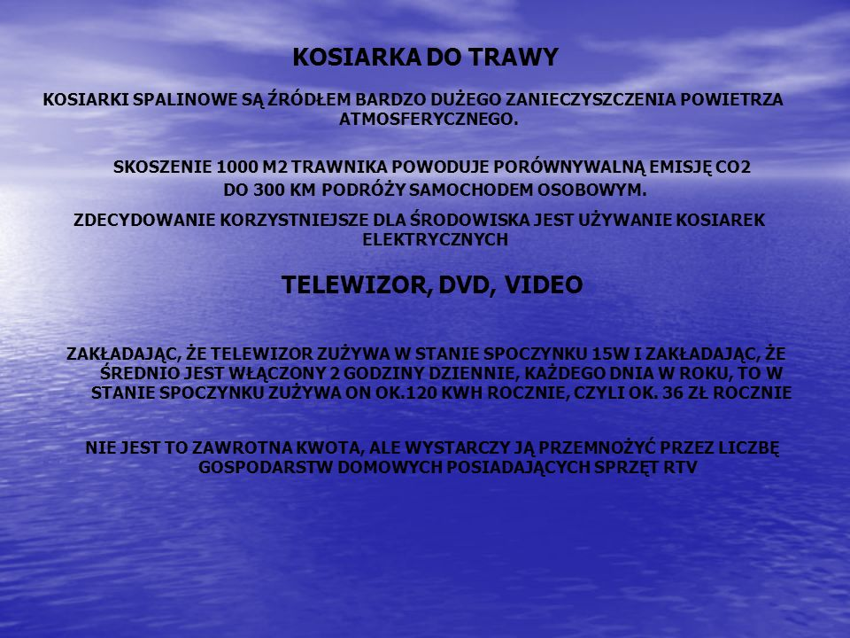 KOSIARKA DO TRAWY TELEWIZOR, DVD, VIDEO