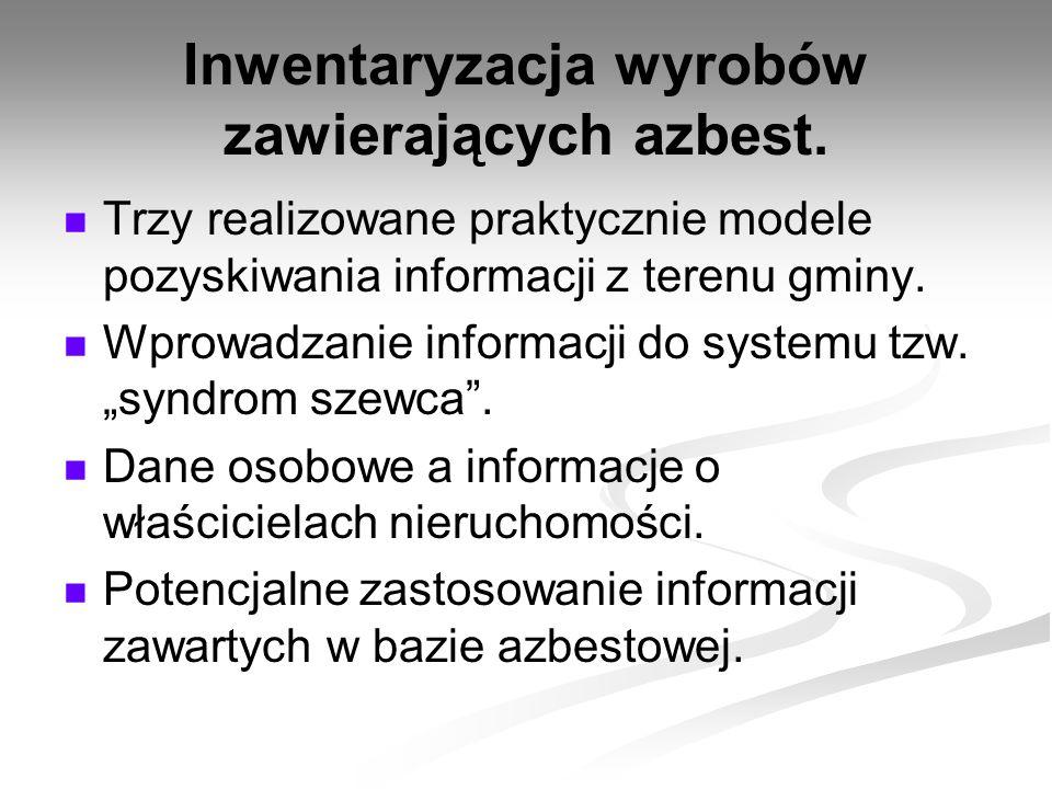 Inwentaryzacja wyrobów zawierających azbest.