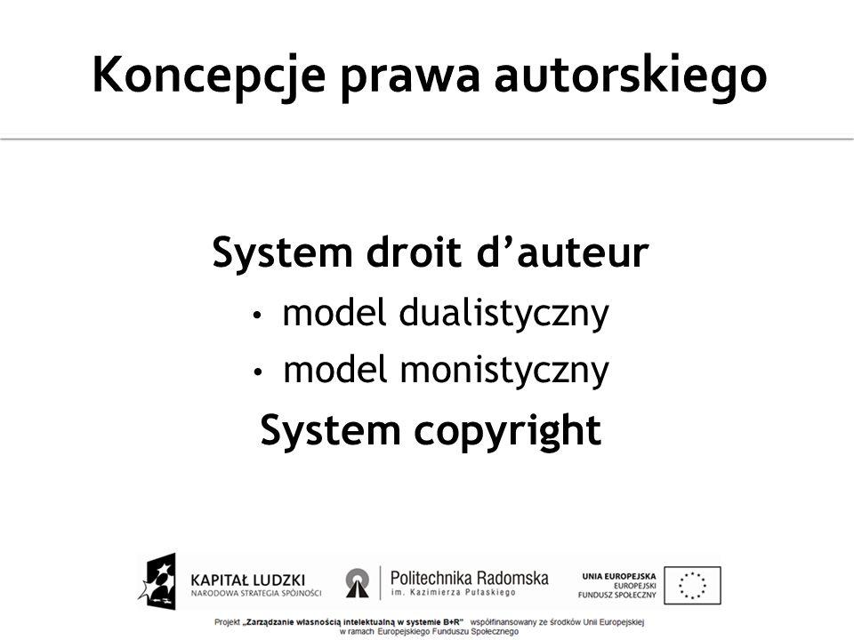 Koncepcje prawa autorskiego