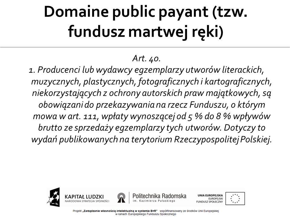Domaine public payant (tzw. fundusz martwej ręki)