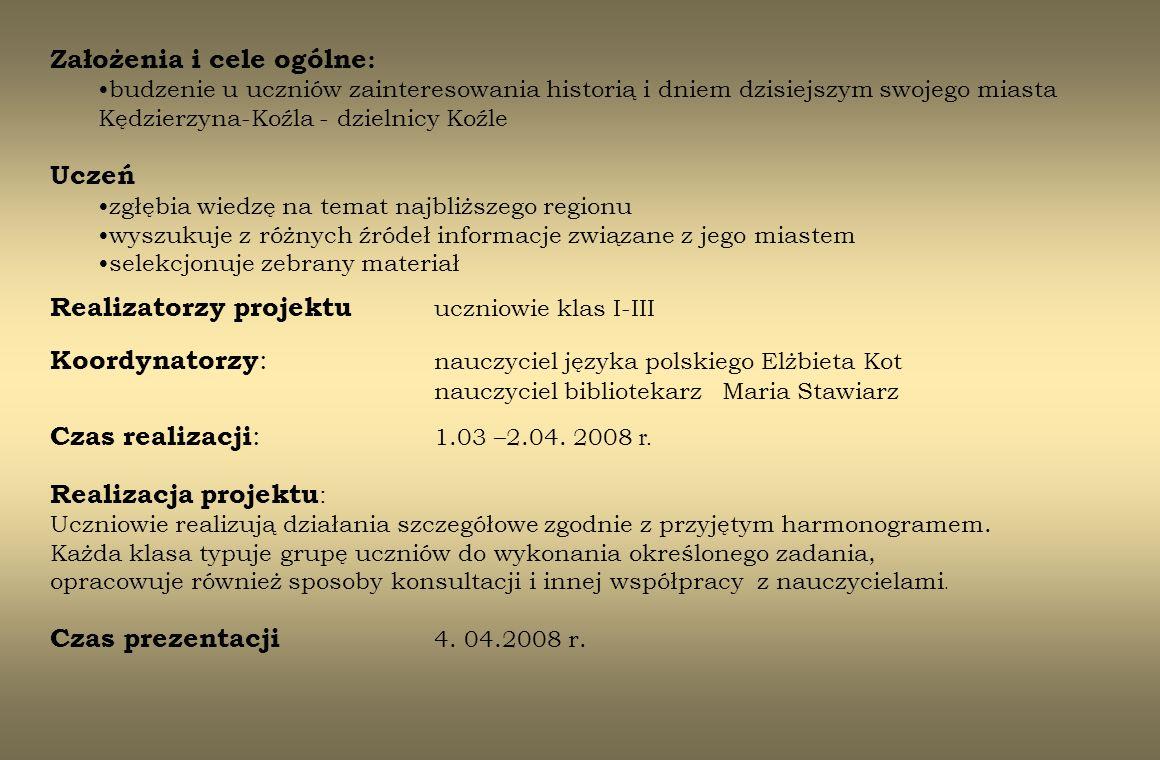 Założenia i cele ogólne: