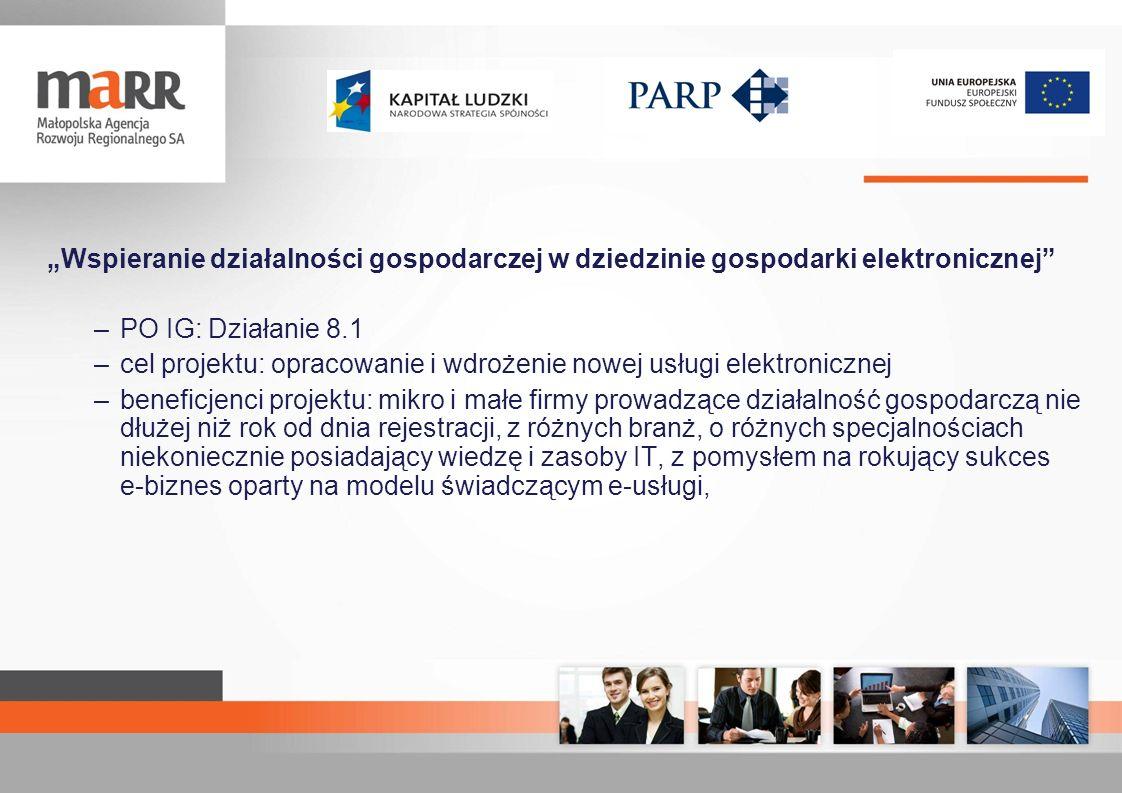 """""""Wspieranie działalności gospodarczej w dziedzinie gospodarki elektronicznej"""