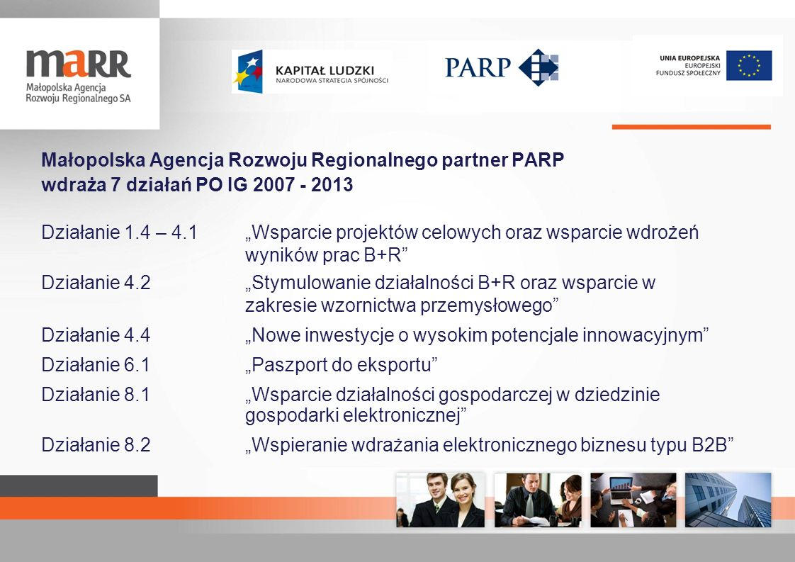 Małopolska Agencja Rozwoju Regionalnego partner PARP