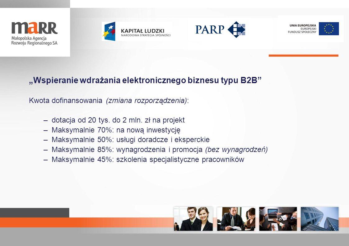 """""""Wspieranie wdrażania elektronicznego biznesu typu B2B"""