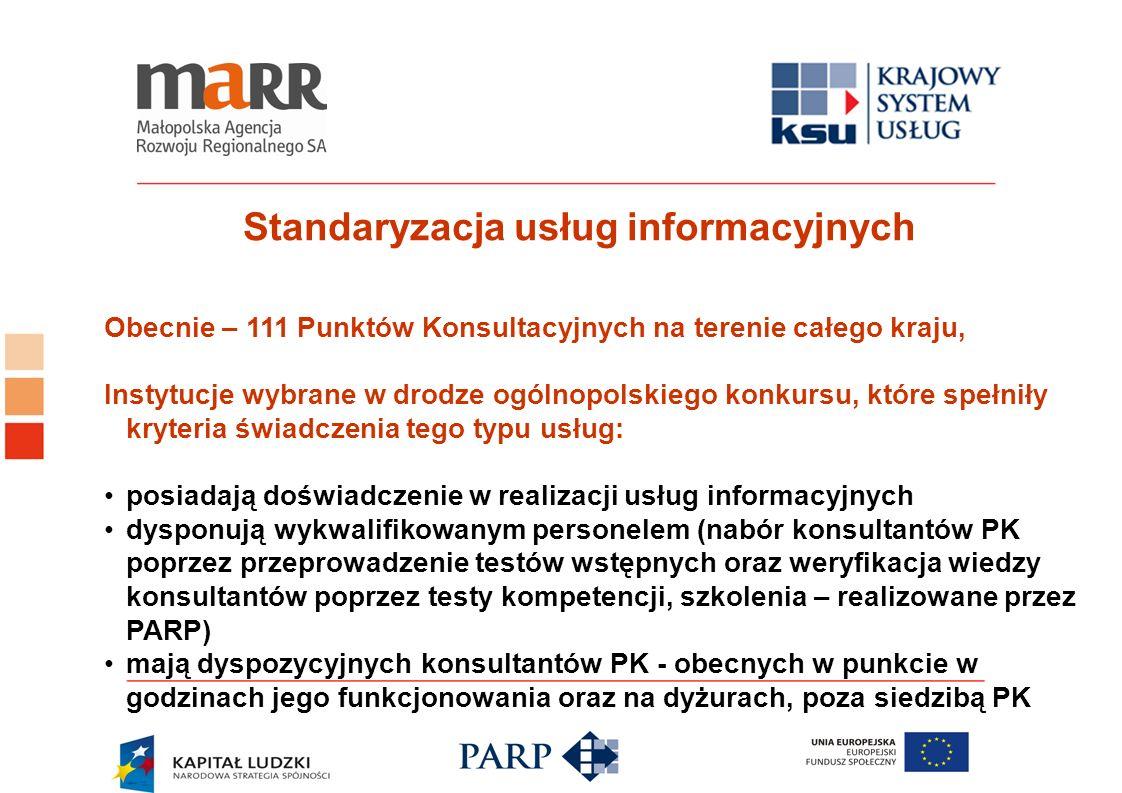 Standaryzacja usług informacyjnych