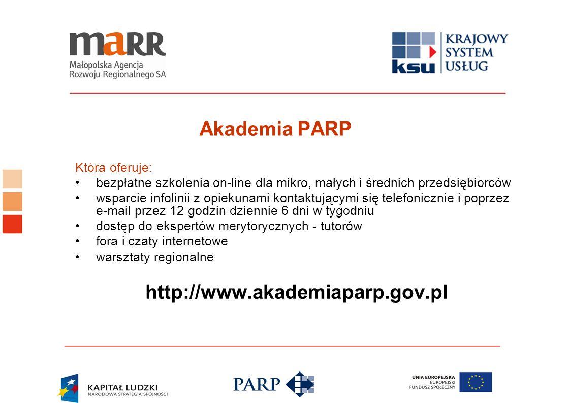 Akademia PARP http://www.akademiaparp.gov.pl