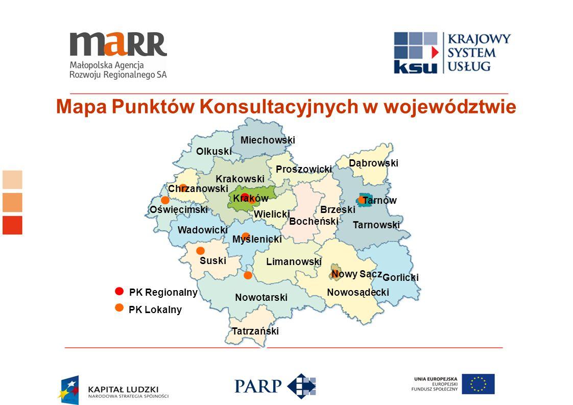 Mapa Punktów Konsultacyjnych w województwie