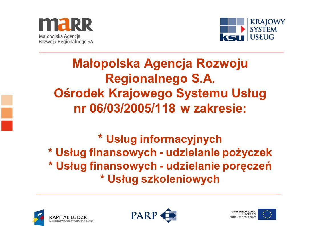 Małopolska Agencja Rozwoju Regionalnego S. A
