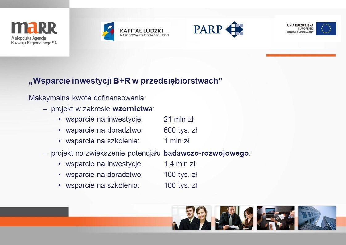 """""""Wsparcie inwestycji B+R w przedsiębiorstwach"""