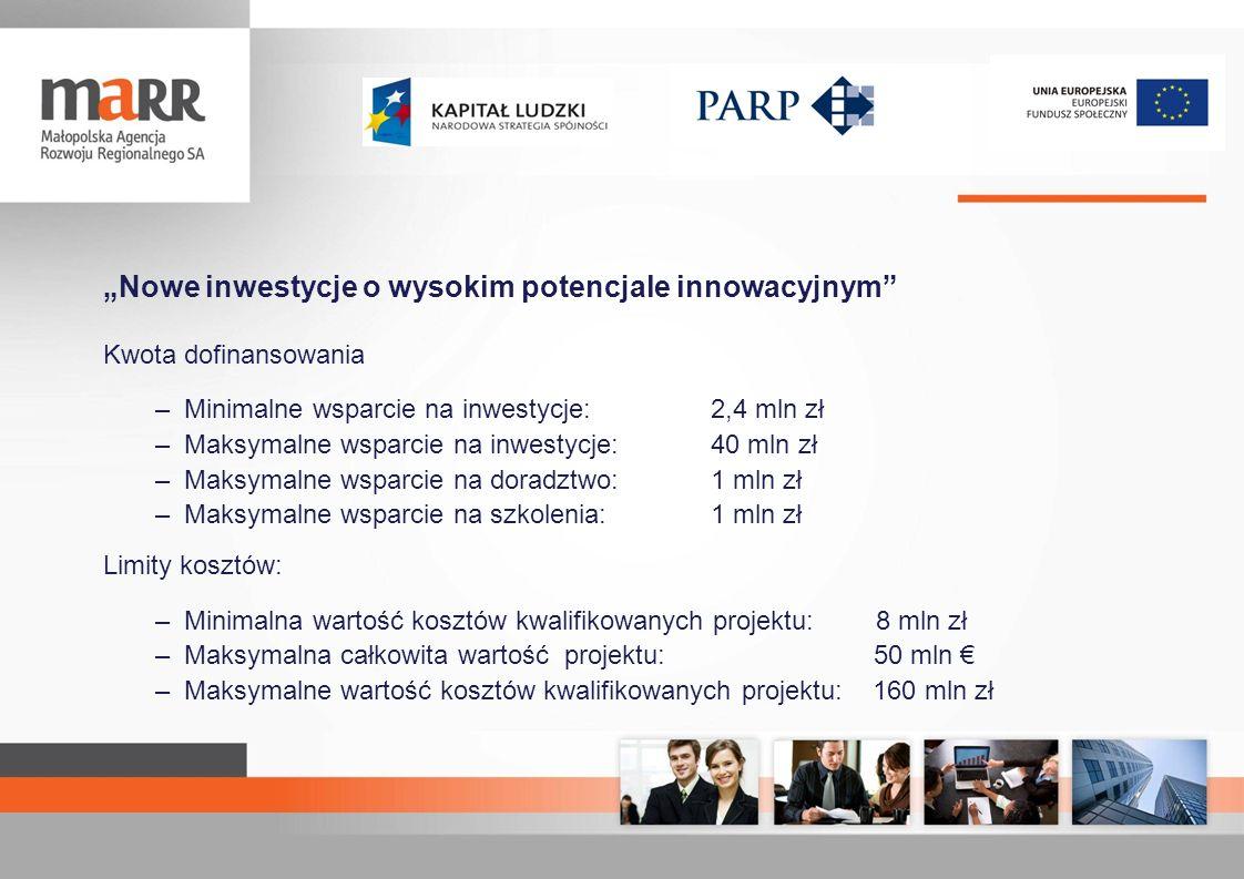 """""""Nowe inwestycje o wysokim potencjale innowacyjnym"""