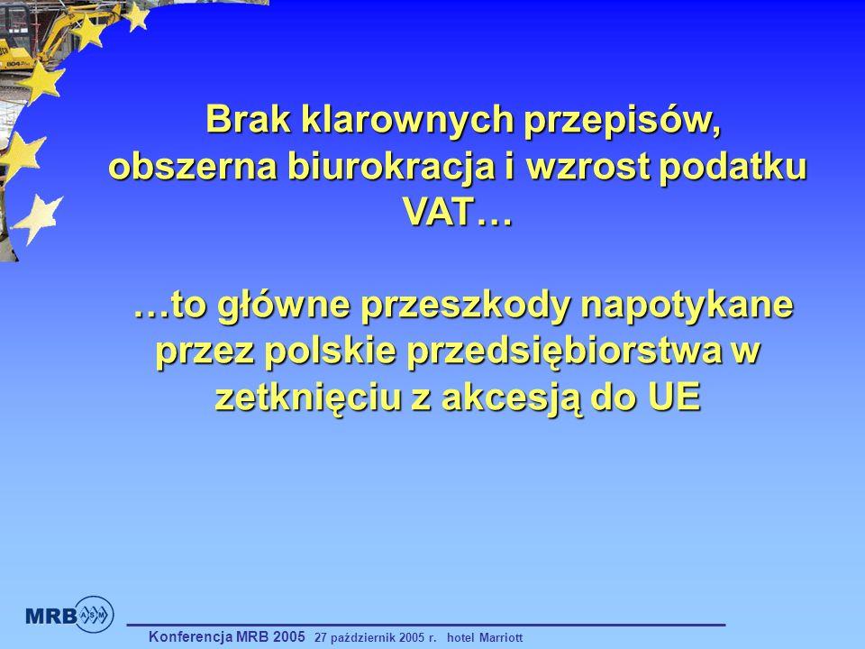 Brak klarownych przepisów, obszerna biurokracja i wzrost podatku VAT… …to główne przeszkody napotykane przez polskie przedsiębiorstwa w zetknięciu z akcesją do UE