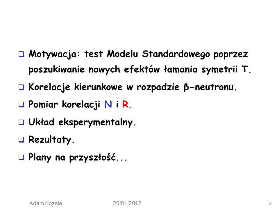 Motywacja: test Modelu Standardowego poprzez poszukiwanie nowych efektów łamania symetrii T.